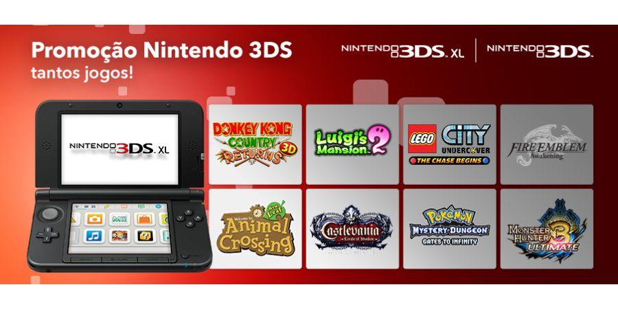 Nintendo 3DS Tantos Jogos 01