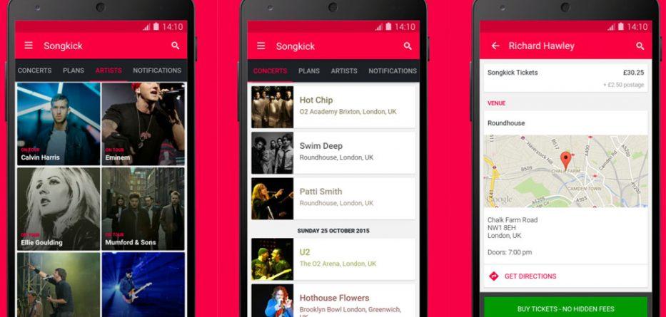 App do Dia - Songkick Concerts