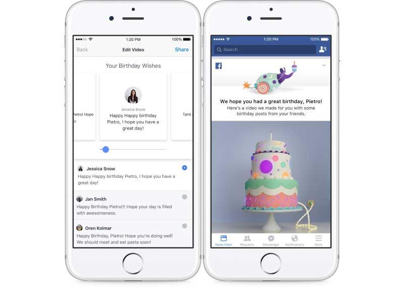 Facebook passa a oferecer vídeos em comemoração ao aniversário dos usuários