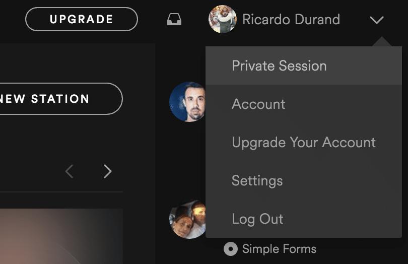 Spotify Provate Session