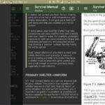 Offline survival manual app
