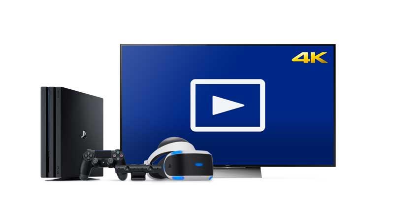 Media Player da PS4 Pro recebe atualização 4k