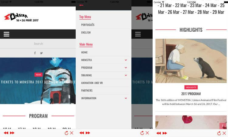 Monstra 2017 app