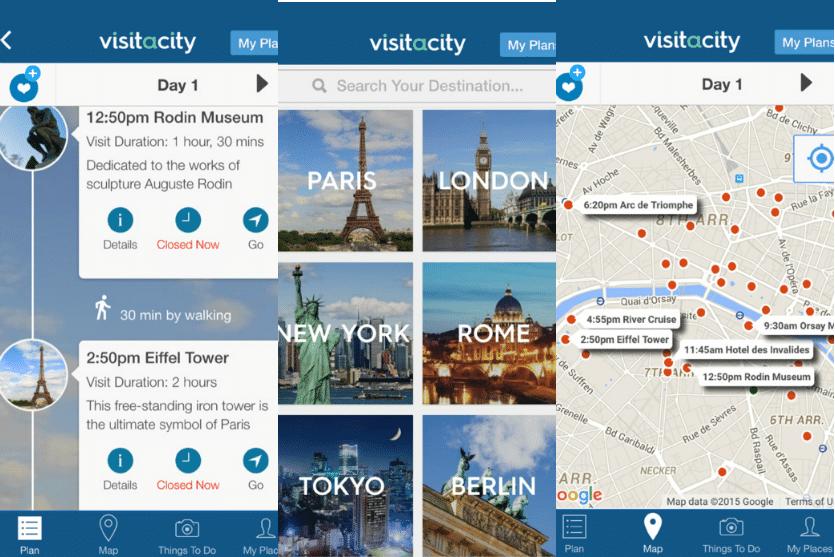 Visit a City app