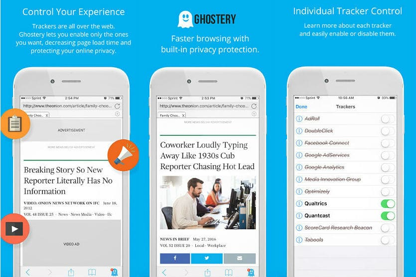 Ghostery Privacy Browser app