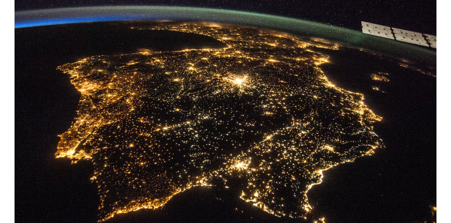 Portugal-from-space tecnologia Ericsson demonstra tecnologia 5G em Portugal Portugal from space 900x445