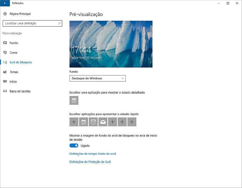 Publicidade ecrã de bloqueio - Windows 10 windows 10 Elimine a publicidade no Windows 10 Publicidade ecr   de bloqueio