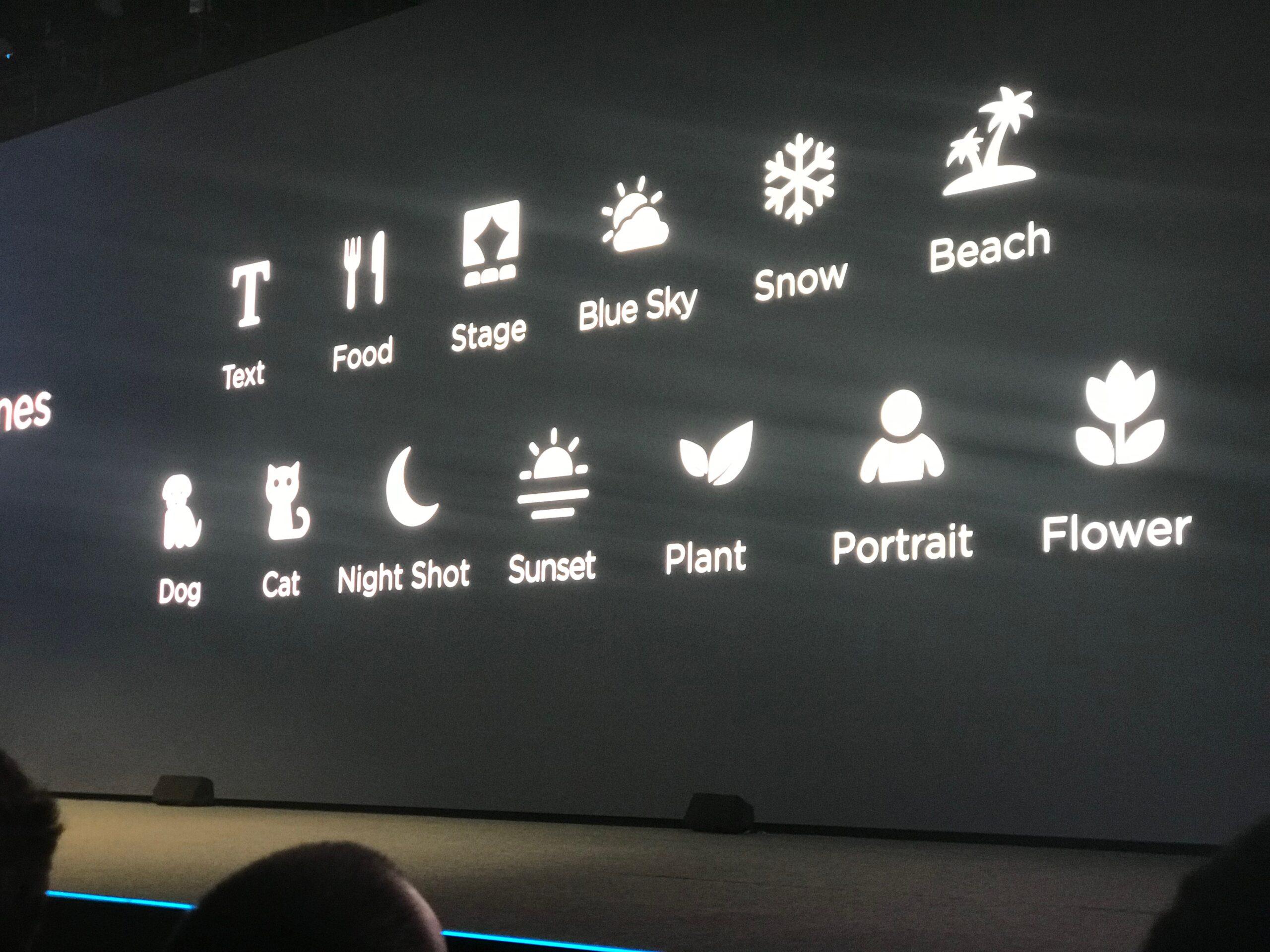 Os tipos de objectos e cenas reconhecidos pelo sistema de inteligência artificial
