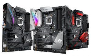 Asus-ROG-Z370-Motherboards motherboards Motherboards Asus Z370 já estão disponíveis em Portugal Asus ROG Z370 Motherboards 298x186