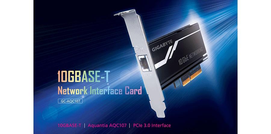 Gigabyte-GC-AQC107 pcie Nova placa de rede PCIe 10GbE da Gigabyte a caminho das lojas Gigabyte GC AQC107 900x445
