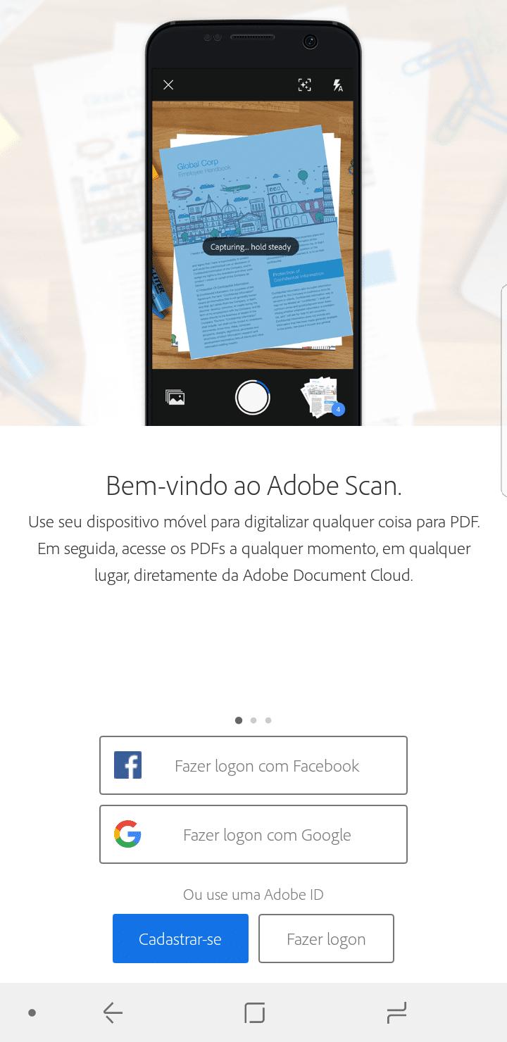 Passo 1 - Adobe Scan