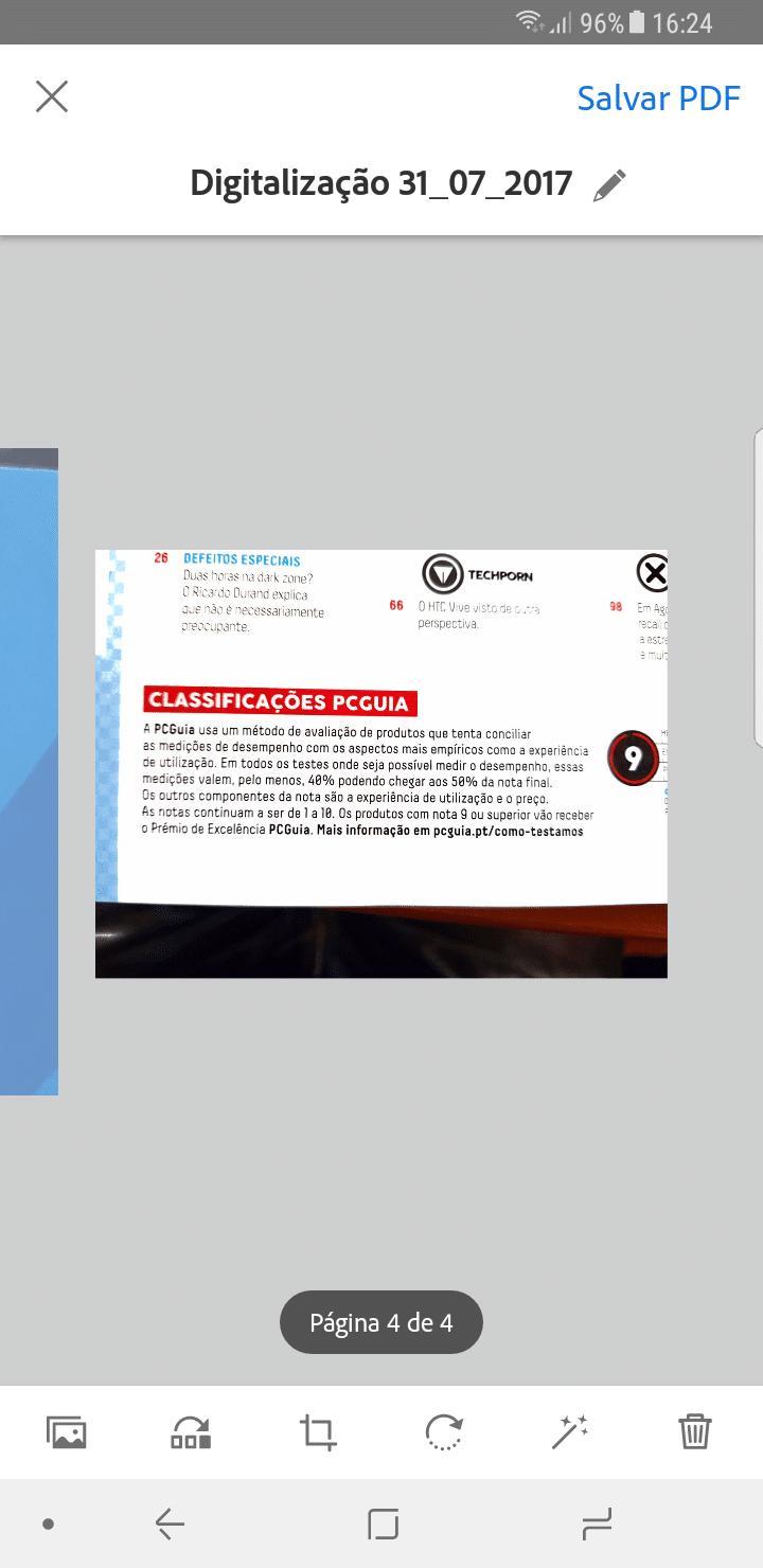 Passo 3 - Adobe Scan