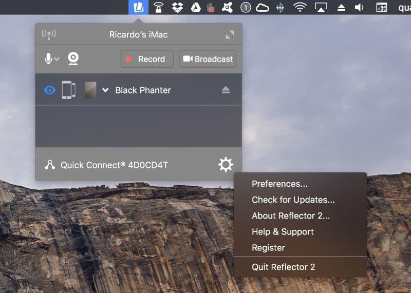 apple tv Transforme o Mac numa Apple TV Reflector 4 A