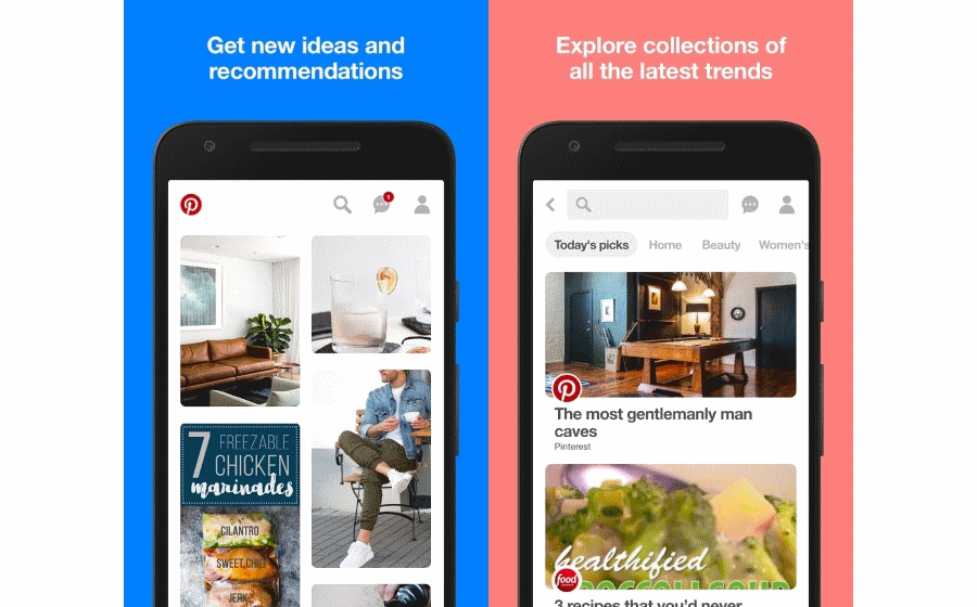 Pinterest Android New