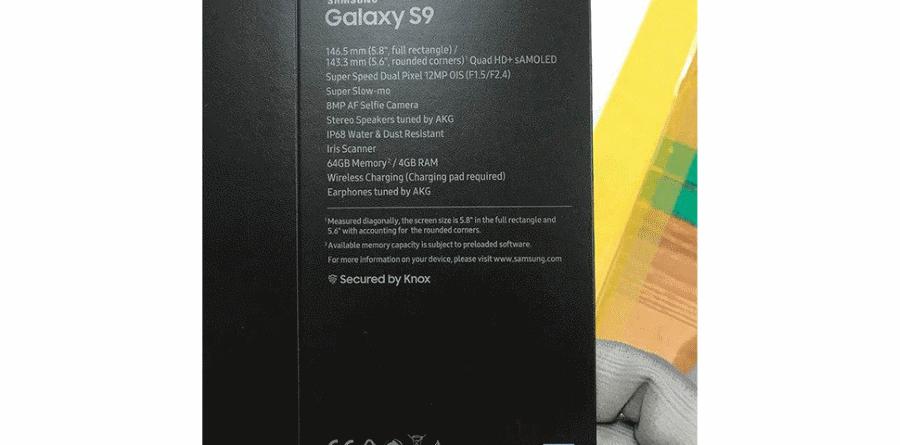 Galaxy S9 Box New galaxy - Galaxy S9 Box New 900x445 - Reveladas especificações do Samsung Galaxy S9
