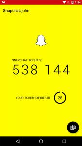 Verificação em dois passos - Snapchat