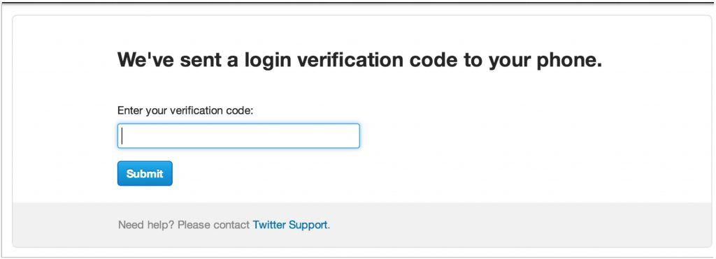 Verificação em dois passos - Twitter