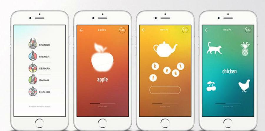 Drops app drops App do Dia – Drops: Aprenda 28 idiomas Drops app 900x445