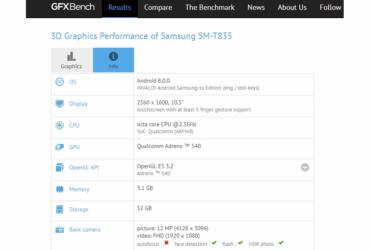 GFXBench Samsung SM T835