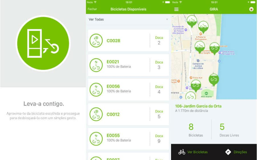 App do Dia - Gira. Bicicletas de Lisboa