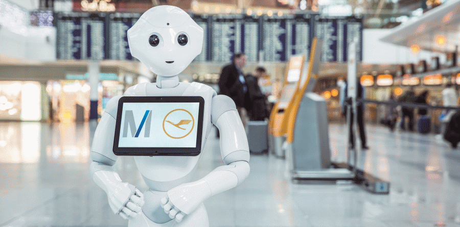 Lufthansa Josie Pepper lufthansa - Lufthansa Josie Pepper 900x445 - Lufthansa e aeroporto de Munique testam um robô no Terminal 2