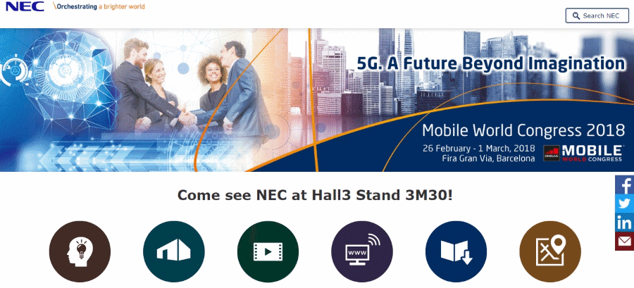 NEC Mobile World Congress