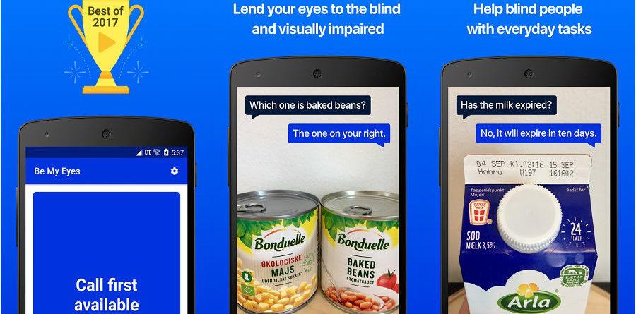 Be My Eyes app be my eyes App do Dia – Be My Eyes – Helping the blind Be My Eyes app 900x445