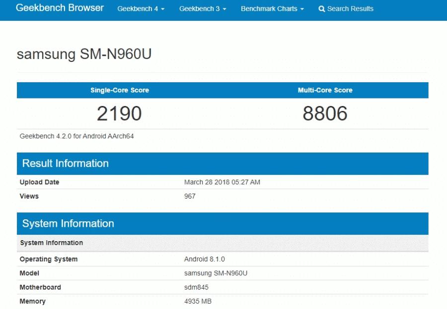 Samsung SM-N960U New