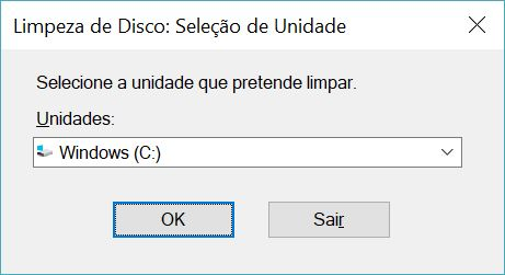 limpeza do disco Windows