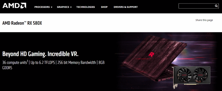 AMD Radeon RX 580X