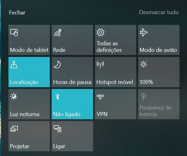 Botões Windows 10 hotspot - Botoes - Como usar o computador Windows 10 como hotspot para ligação à Internet