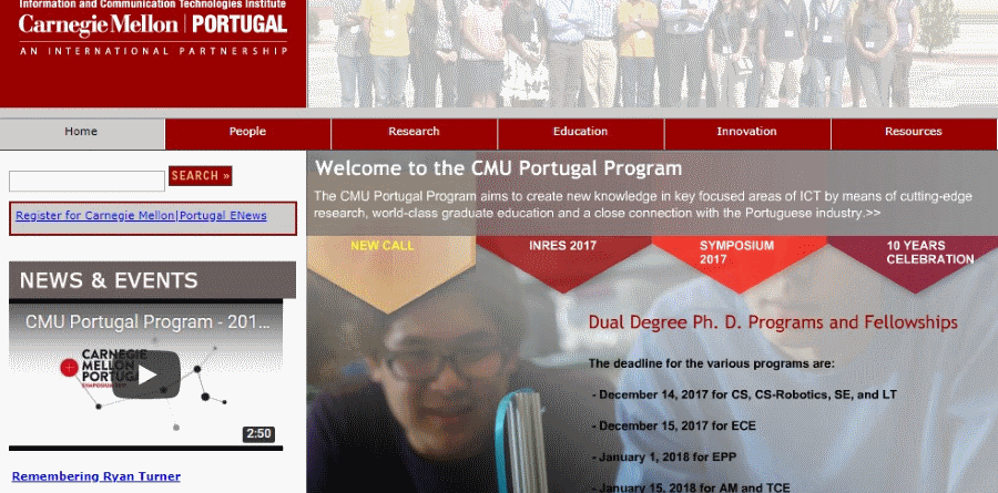 Carnegie Mellon Portugal Information New