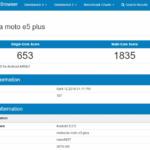 Geekbench Moto E5 Plus