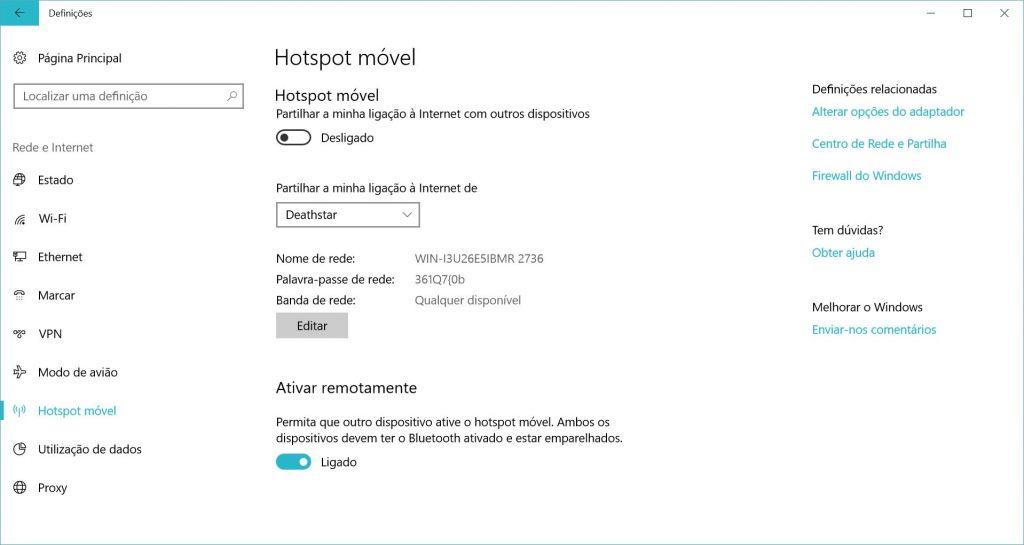 Hotspot no Windows 10 hotspot - Hotspot 1024x545 - Como usar o computador Windows 10 como hotspot para ligação à Internet