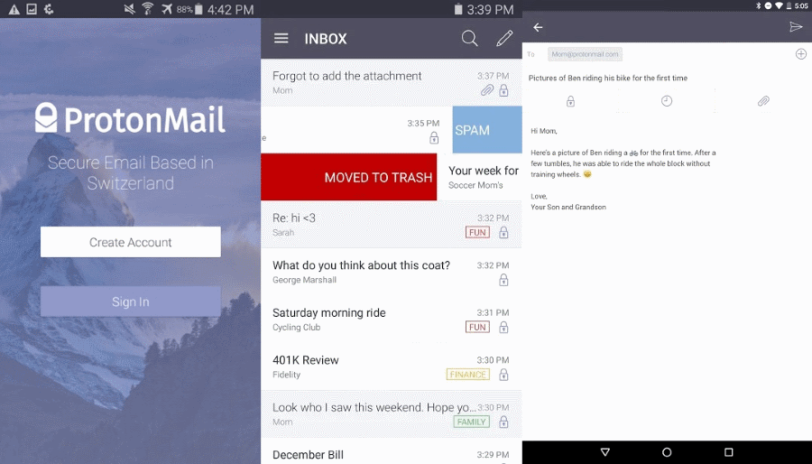 ProtonMail Android New