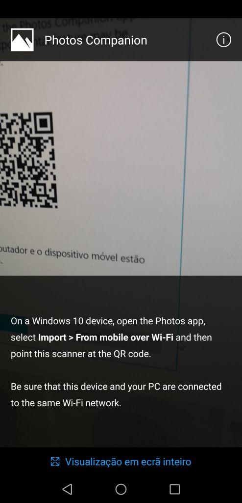 Leitura do QR-Code
