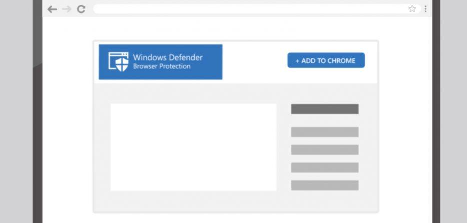 - windows defender chrome extension mockup 933x445 - Microsoft disponibiliza extensão para proteger navegação no Chrome