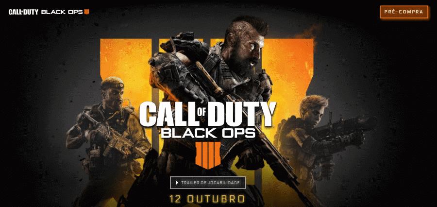 call - Activision Call of Duty Black Ops 4 - Call of Duty: Black Ops 4 chega no dia 12 de Outubro (Vídeo)