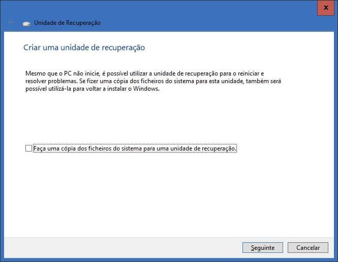 Disco de Recuperação Windows