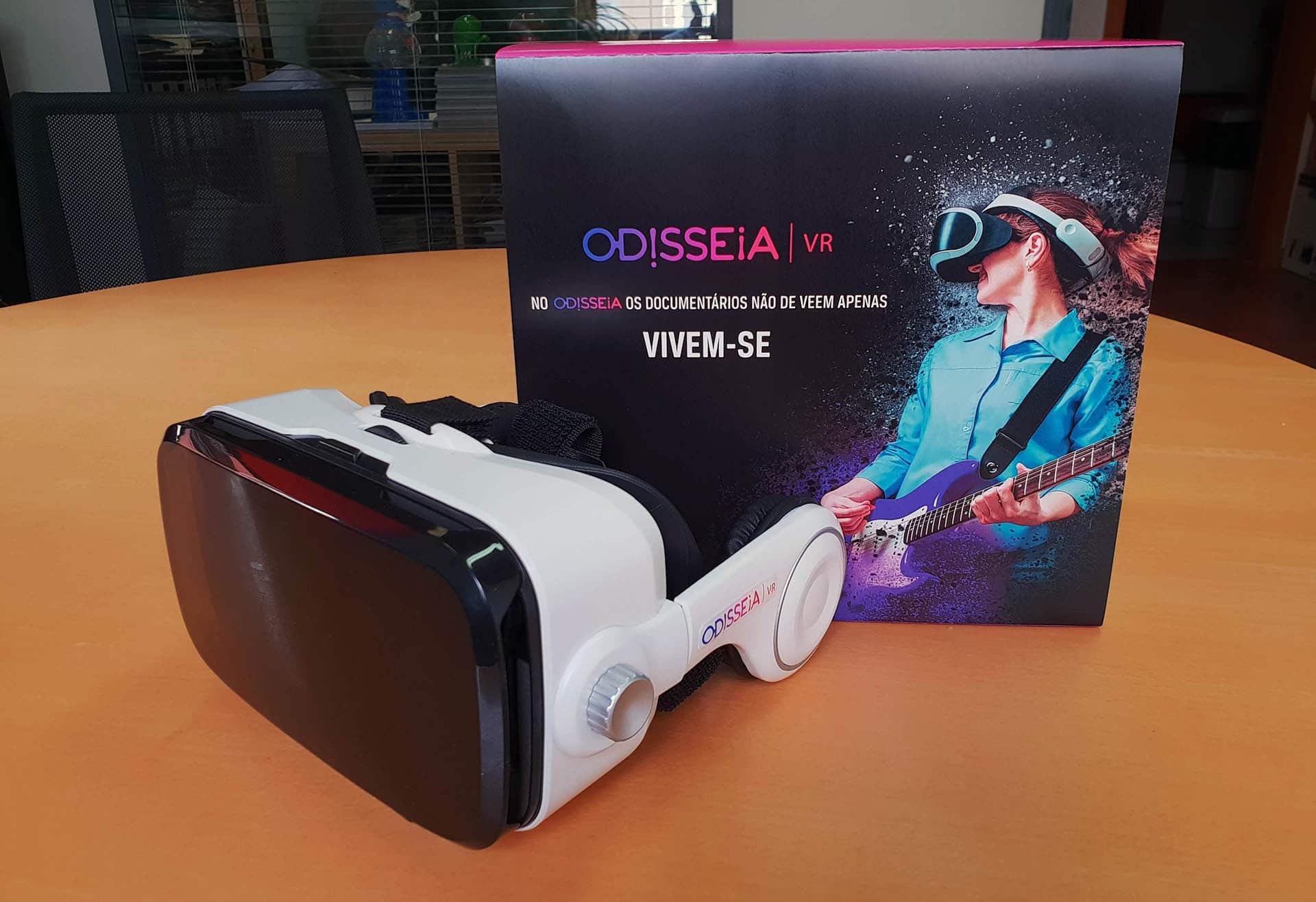 aplicação - OdisseiaVR 02 - Odisseia lança App Gratuita de Realidade Virtual
