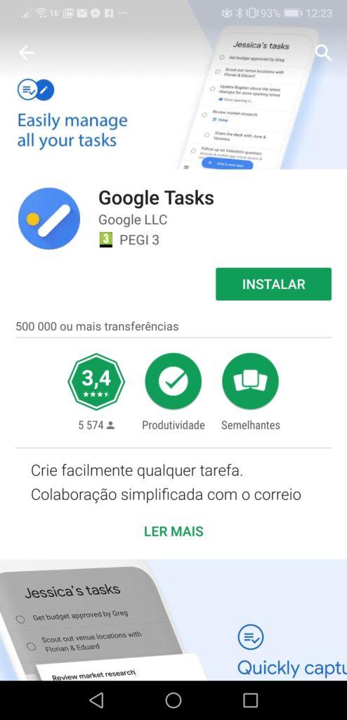 Google Tasks Loja