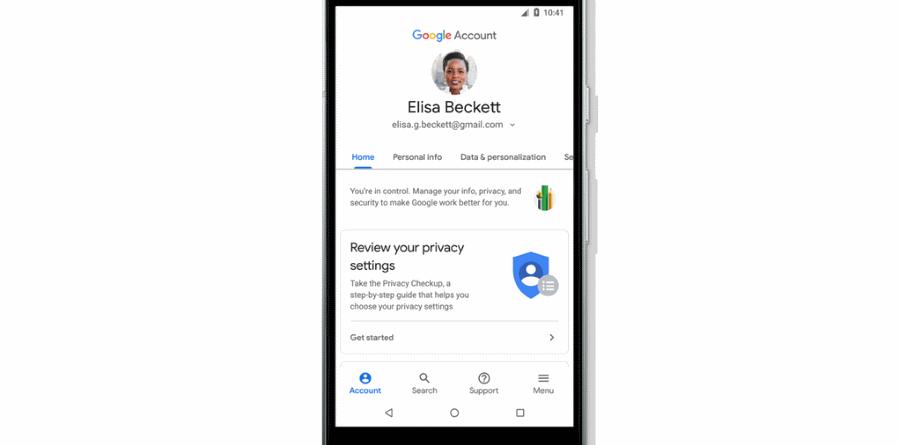 Google Conta New