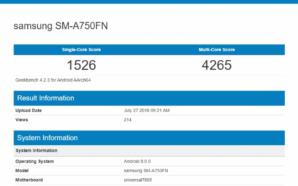 Samsung SM-A750FN Geekbench