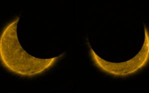 Fotos da ESA mostram eclipse solar parcial visto a partir…