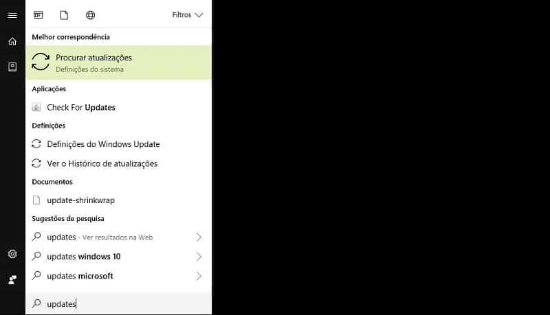 Segurança - Atualize o Windows 10