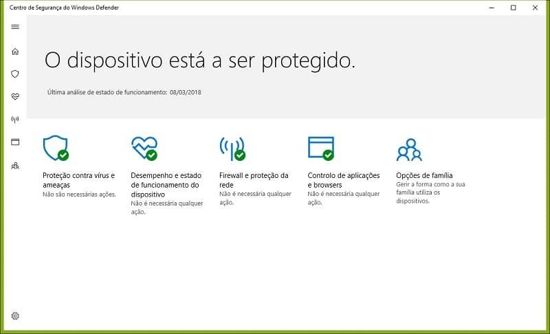 Segurança - Configurar Windows Defender
