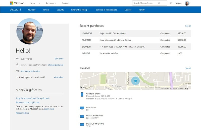 Segurança - Proteja sua conta Microsoft