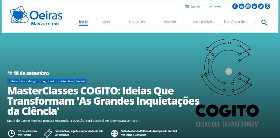 Câmara Municipal de Oeiras MasterClasses COGITO