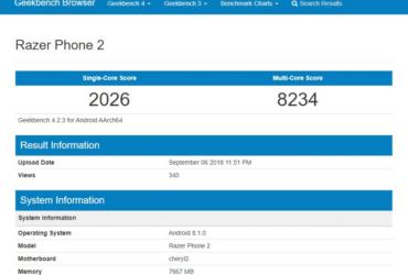 Geekbench Razer Phone 2