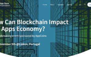 AppCoins promove o App Store Foundation Blockchain Summit